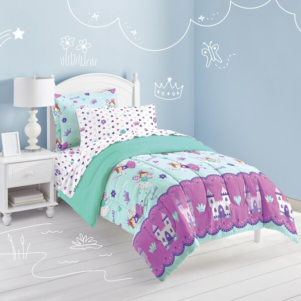 Audette Magical Princess Bed in a Bag Reversible Comforter Set by Harriet Bee