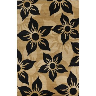 Check Prices Willow Hand Tufted Wool Brown/Black Area Rug ByRed Barrel Studio