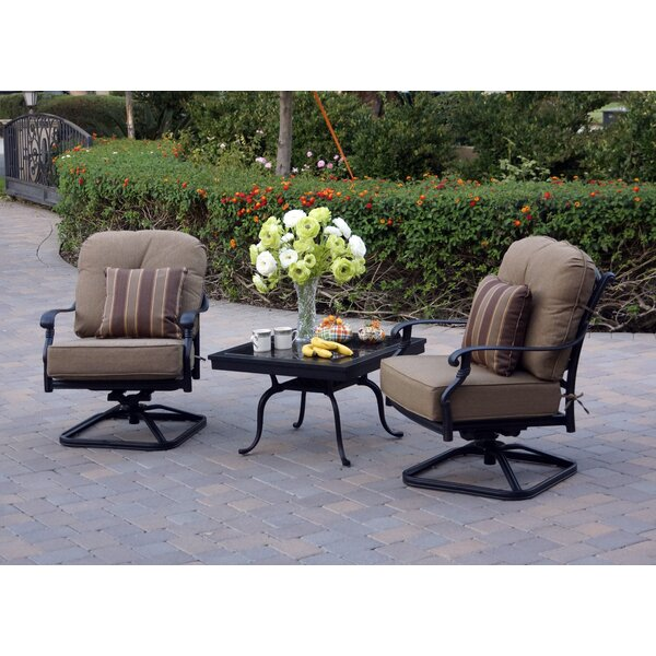 Windley 3 Piece 2 Person Seating Group with Cushions by Fleur De Lis Living