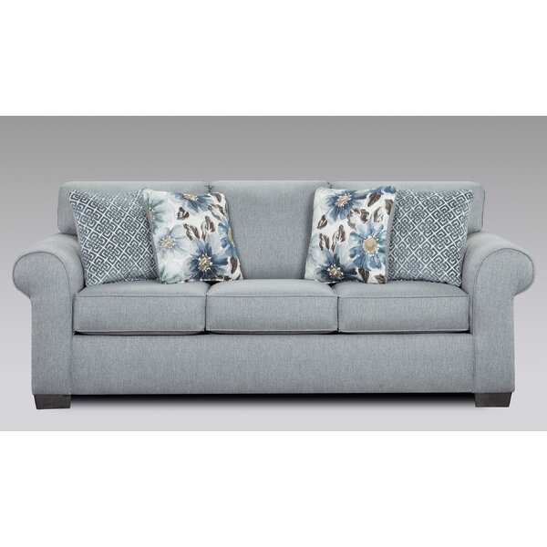 Witte Sofa by Highland Dunes