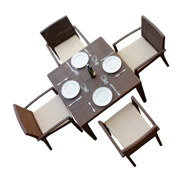 Hicklin 5 Piece Dining Set with Cushions by Brayden Studio