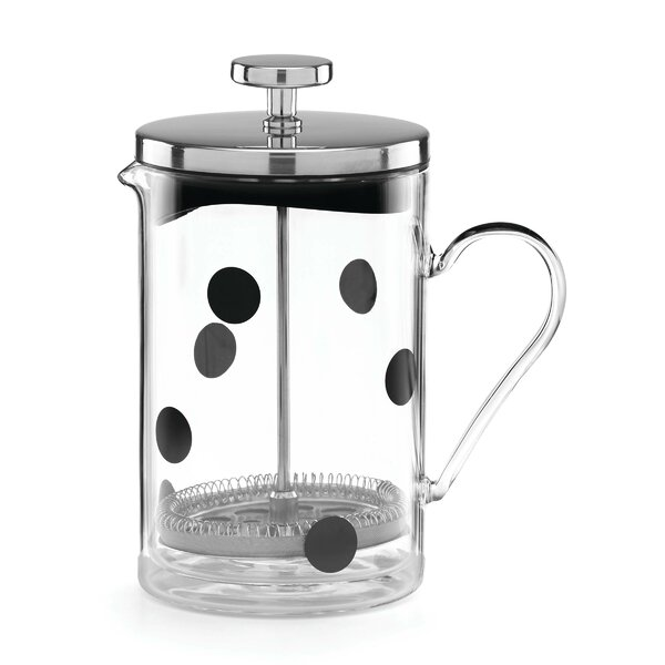 All in Good Taste Deco Dot Glass French Press by kate spade new york