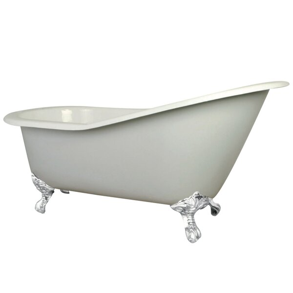 Aqua Eden Cast Iron Slipper 62 x 31 Freestanding Soaking Bathtub by Kingston Brass