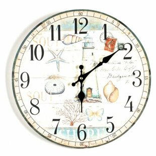 Great choice Albina Nautical 13.5 Wall Clock by Highland Dunes