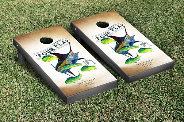 Guy Harvey Four Play Cornhole Game Set by Victory Tailgate