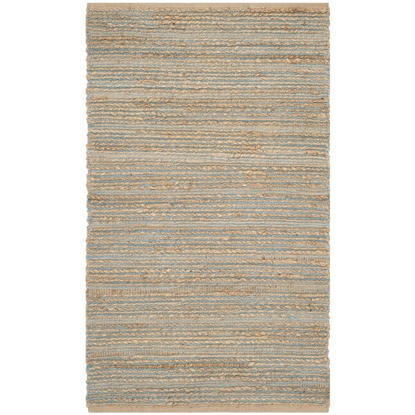 Abia Hand-Woven Beige Area Rug by Highland Dunes