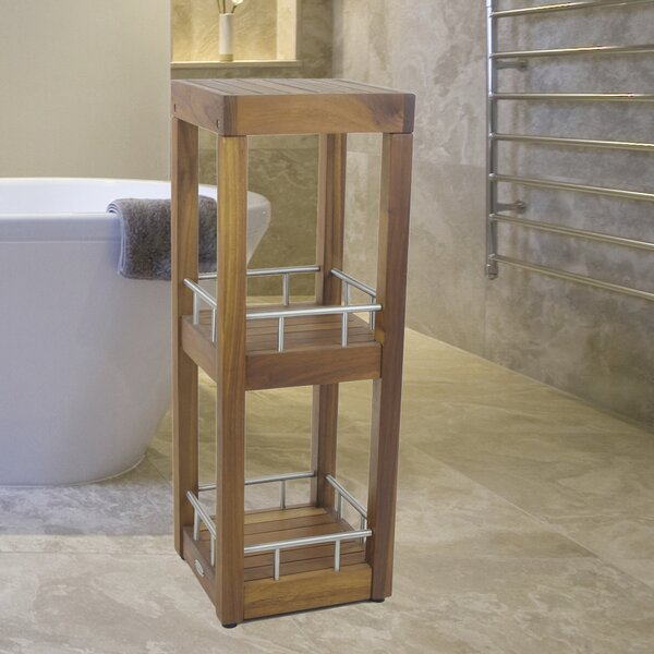 12 W x 33.5 H Bathroom Shelf by Aqua Teak
