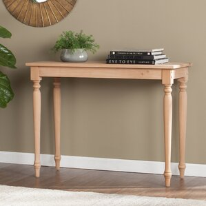 Cairnbrook Wood Console Table by Highland Dunes