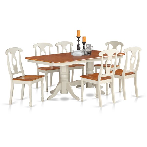 Pillsbury 7 Piece Dining Set with Rectangular Table Top by August Grove