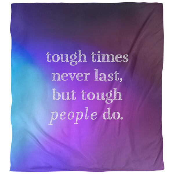 Quotes Tough Times Single Reversible Duvet Cover