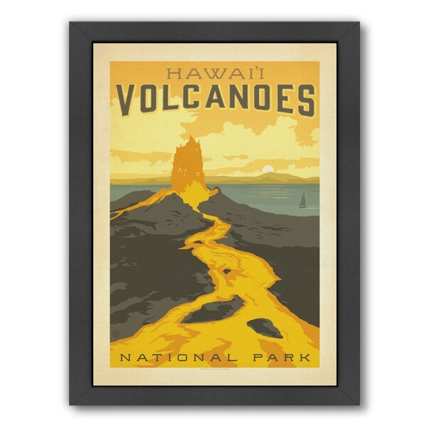 Hawaiian Volcanoes National Park Framed Vintage Advertisement by East Urban Home