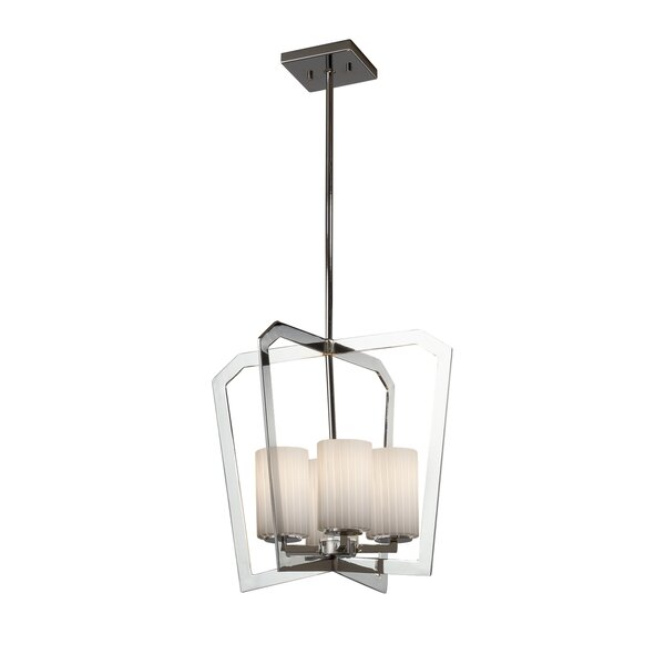 Luzerne 4-Light Shaded Geometric Chandelier by Brayden Studio Brayden Studio