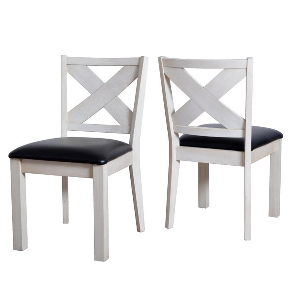 Hobart Wooden Upholstered Dining Chairs (Set of 2) by Rosecliff Heights
