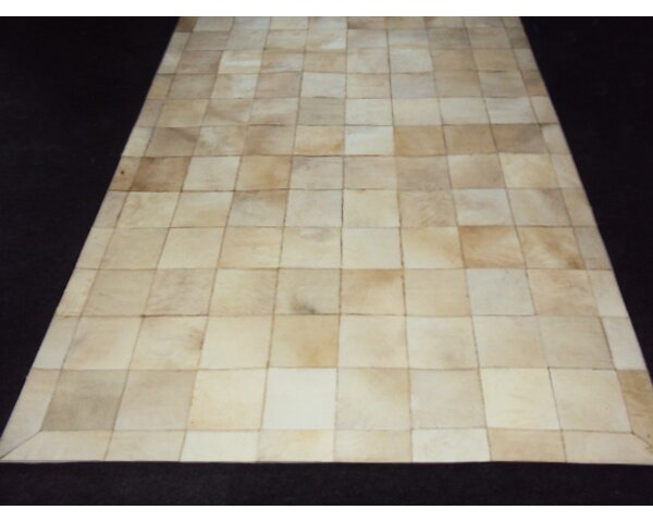 Patchwork Ivory Box Area Rug by Modern Rugs