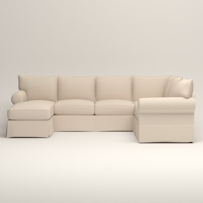 Birch Lane Heritage Slipcovered U Shaped Sectional Fabric Sectionals