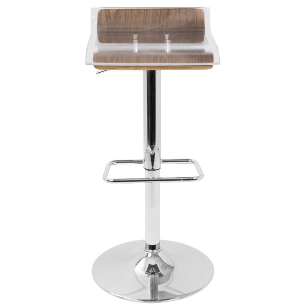 Suhel Adjustable Height Swivel Bar Stool by Orren Ellis