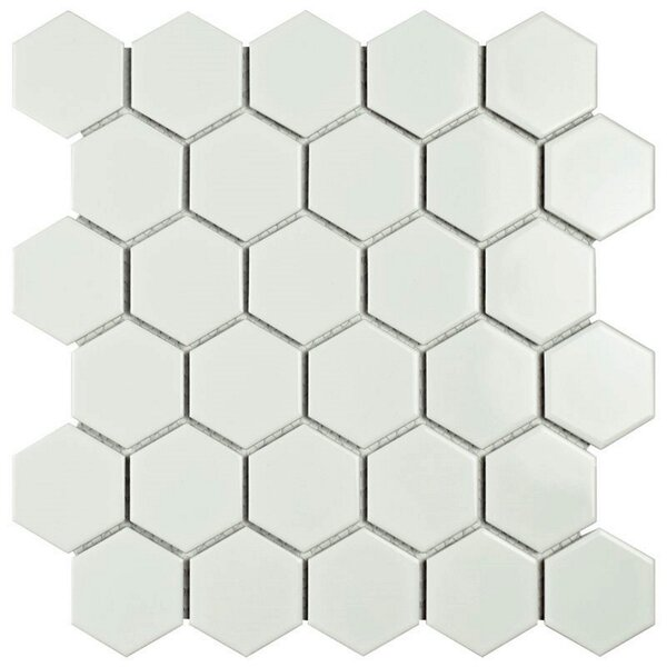 Value Series 2 x 2 Porcelain Mosaic Tile in Glossy White by WS Tiles