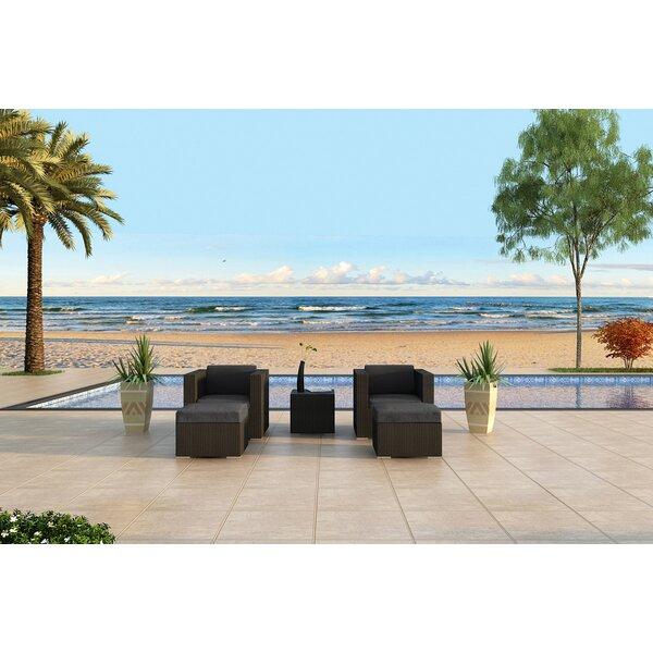 Urbana 5 Piece Sunbrella Conversation Set with Cushions by Harmonia Living