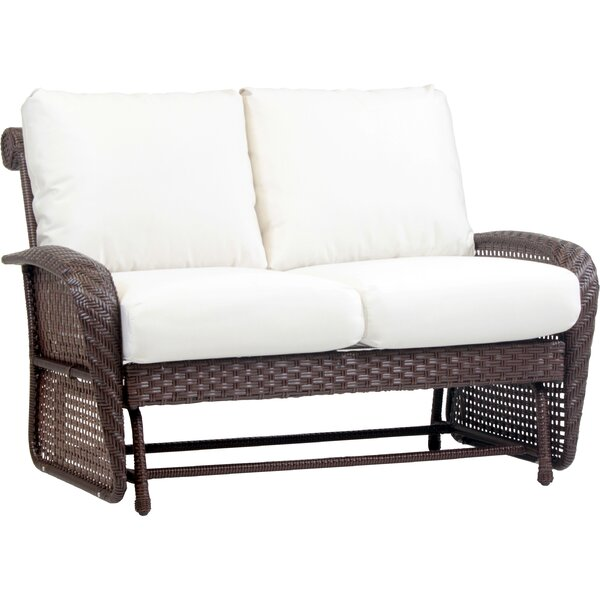 Soundview Double Glider Bench with Cushions by Bay Isle Home