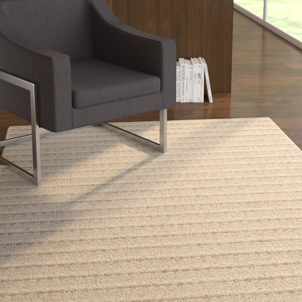 Keith Beige Stripe Area Rug by Latitude Run