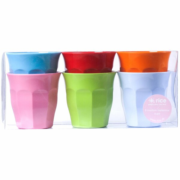 Medium Melamine Curved Cup (Set of 6) by Rice