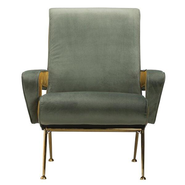 Salvato Cotton Velvet Armchair by Brayden Studio Brayden Studio