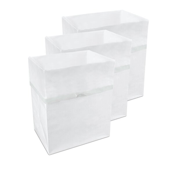 Bathroom and Car Disposable 4 Gallon Waste Basket (Set of 3) by Clean Cubes LLC