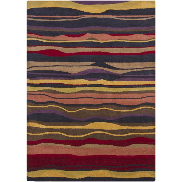 Stockwood Wool Striped Area Rug by Latitude Run