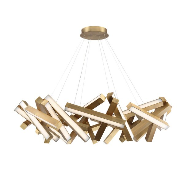 Chaos 31-Light LED Geometric Chandelier by Modern Forms