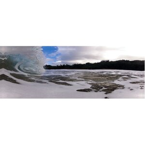 Curling Wave No. 1 Photographic Print on Wrapped Canvas by 3 Panel Photo