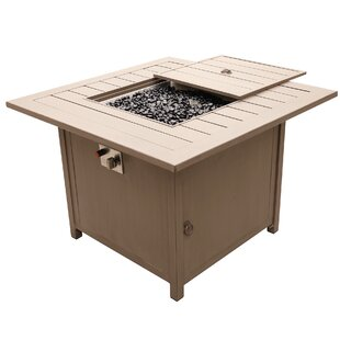 Compare prices Otega Outdoor Propane Gas Firepit Table By Orren Ellis