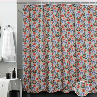 Compare European Christmas Santa Claus Design Printed Shower Curtain By Violet Linen