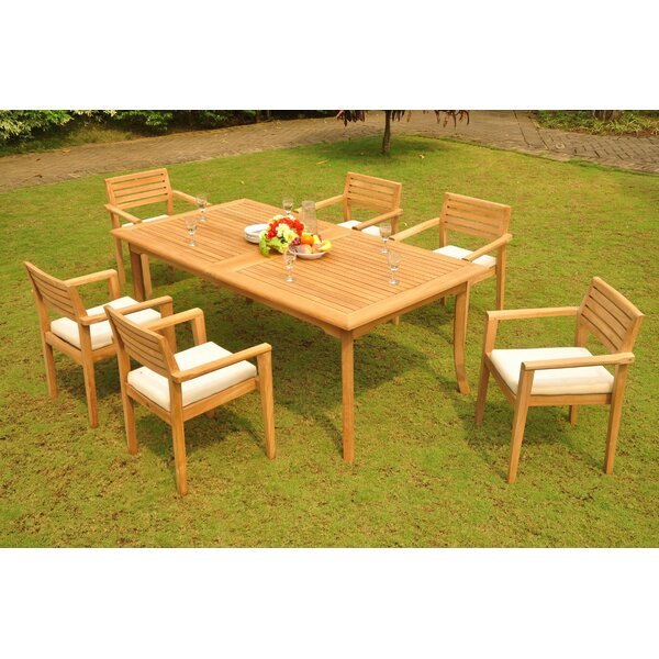 Lomba 7 Piece Teak Dining Set by Rosecliff Heights
