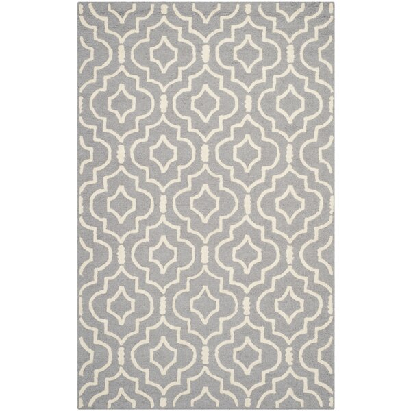 Martins Silver / Ivory Area Rug by Wrought Studio