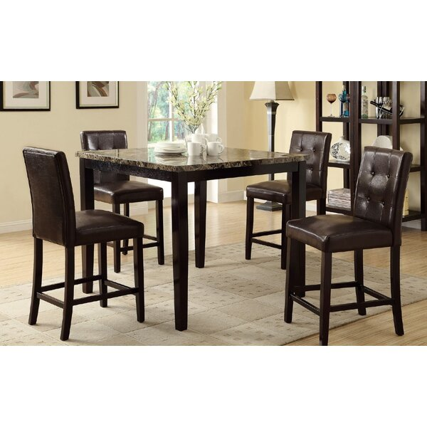 Ronald 5 Piece Counter Height Dining Set by A&J Homes Studio
