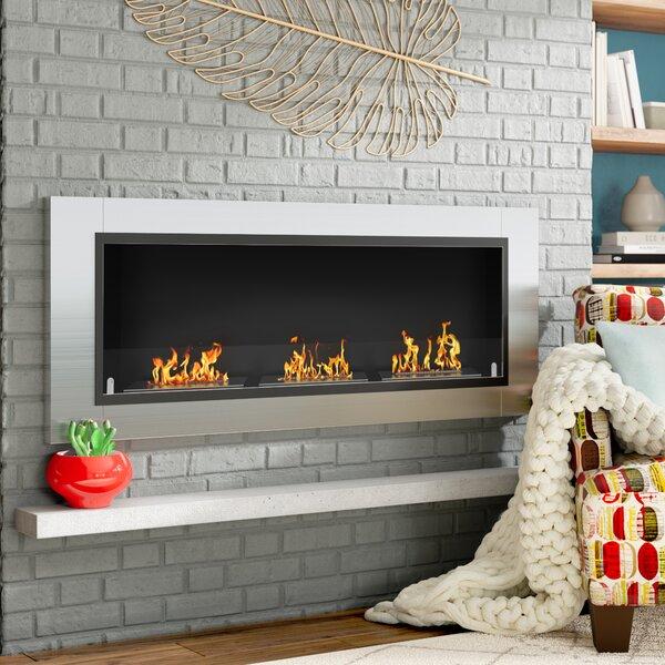 Kelling Ventless Recessed Wall Mounted Bio-Ethanol Fireplace By Latitude Run