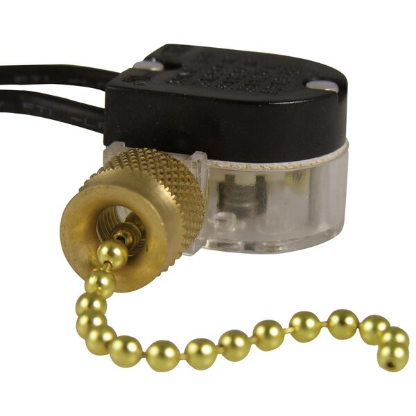 Plated Pull Chain Switch by Gardner Bender