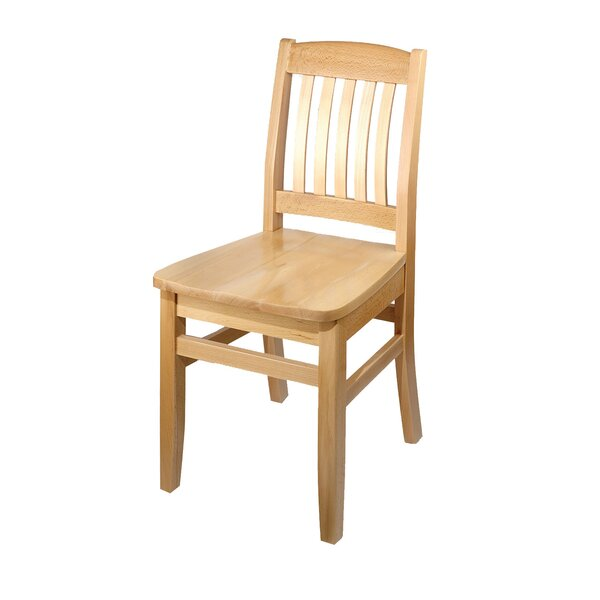 Bulldog Side Chair Solid Wood Dining Chair by Holsag