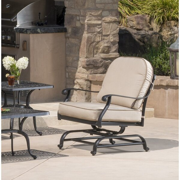 Dunnes Motion Patio Chair with Sunbrella Cushions (Set of 2) by Darby Home Co