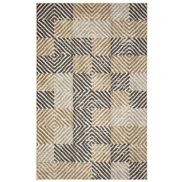 Sorensen Taupe/Ivory Area Rug by World Menagerie