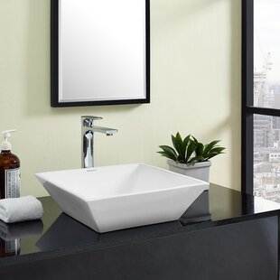 Best St Tropez  Ceramic Square Vessel Bathroom Sink By Swiss Madison