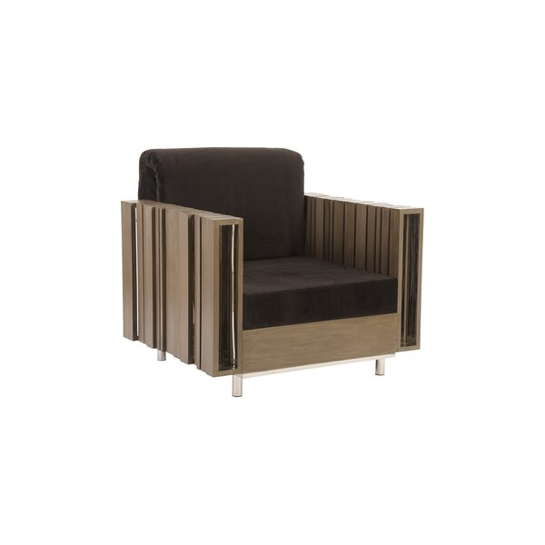 Cotton Arm Chair in Black/Brown