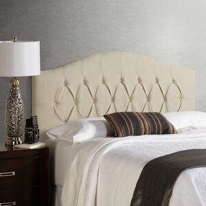Sherburne Diamond Arched Upholstered Headboard by Three Posts