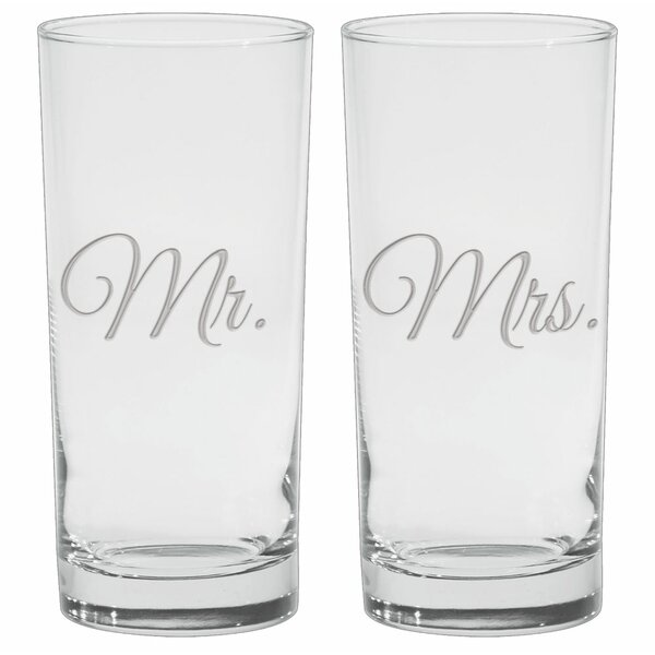 Lilienthal Deep Etched 15 Oz. Cooler Glasses (Set of 2) by Winston Porter