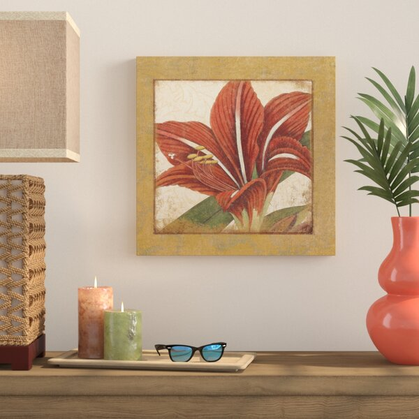 Amaryllis Bloom Graphic Art on Wrapped Canvas by Bay Isle Home
