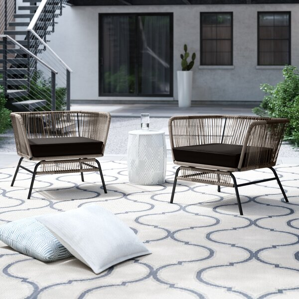 Harvey Patio Chair with Cushions by Foundstone