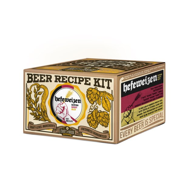 Hefeweizen Beer Recipe Kit by Craft A Brew