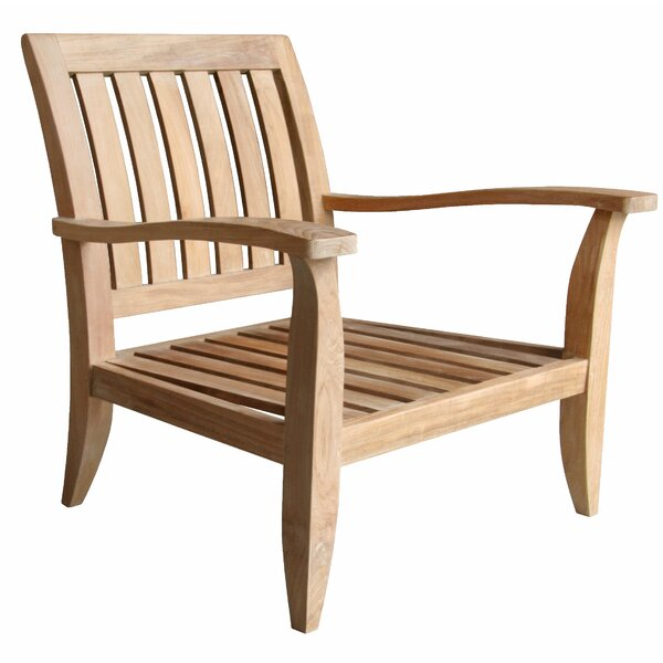 Celia Deep Seating Teak Patio Chair with Sunbrella Cushions by Rosecliff Heights Rosecliff Heights