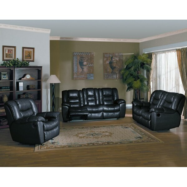 Cambridge Reclining 3 Piece Living Room Set by Red Barrel Studio