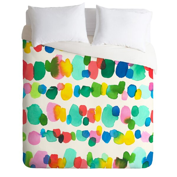 Watercolor Dots Duvet Cover Set by East Urban Home